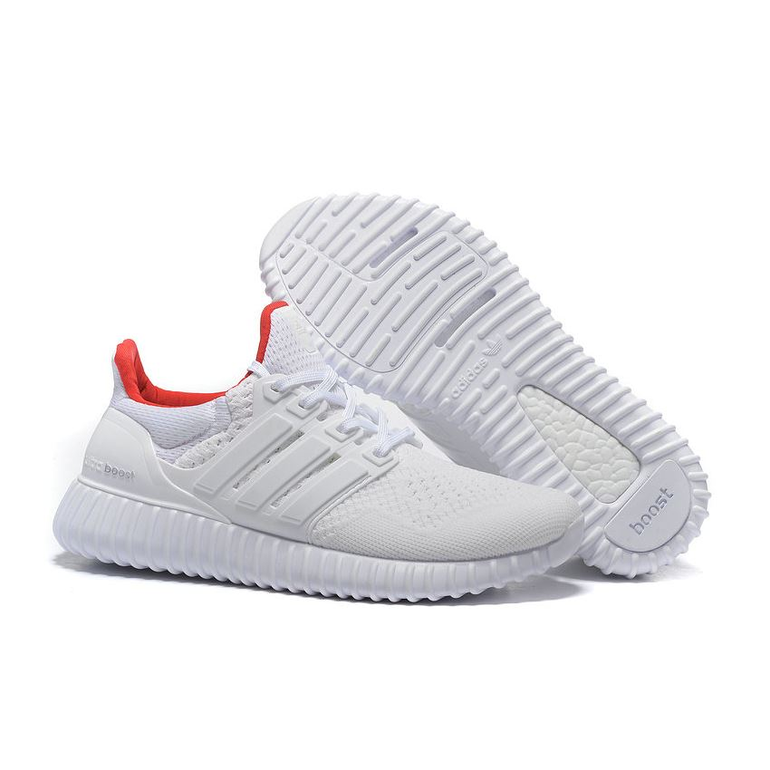 6d1fd63ab8d58 Beautiful Adidas Ultra Boost Mens Running Shoes White Red Cheapest Online