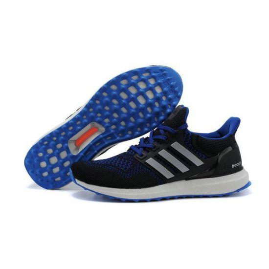 b314508fcf3d8 Mens Adidas Ultra Boost Custom Black Blue Factory Wholesale ...