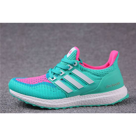 de1d53e65 Classic Adidas Ultra Boosts Womens Running Shoes Green Pink White Top  Quality