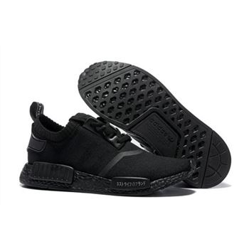 Adidas Originals Nmd R1 Runner Primeknit Consortium All Black