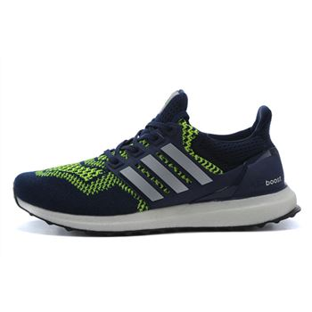 Attractive Adidas Ultra Boost Mens Running Shoes Dark Blue Green Usa Online Sale