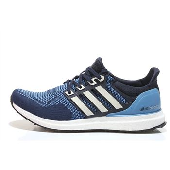 Best Price For Adidas Ultra Boost Mens Running Shoes Dark Blue Silver Free Shipping