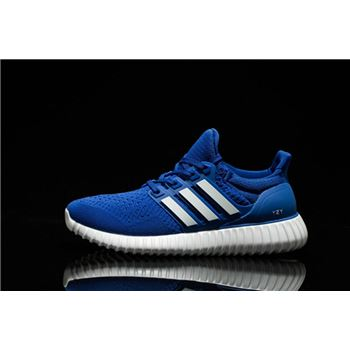 Cheap Adidas Ultra Boost Mens Running Shoes Blue White Usa Clearance Sale