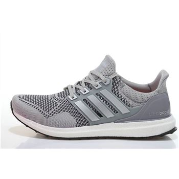 Cheap Adidas Ultra Boost Mens Running Shoes Gray Silver Usa For Sale