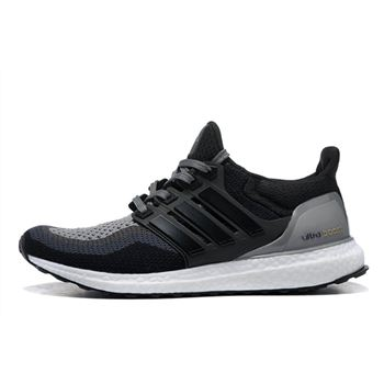 Good Adidas Ultra Boost Mens Running Shoes Black Gray Big Sale Usa