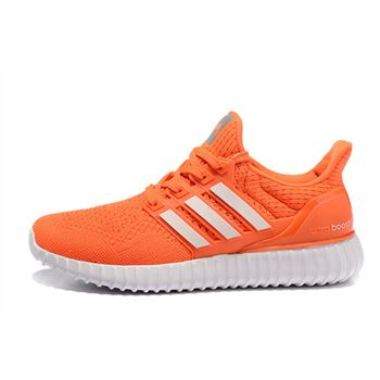 Good Price For Adidas Ultra Boost Mens Running Shoes Orange White Free Shipping