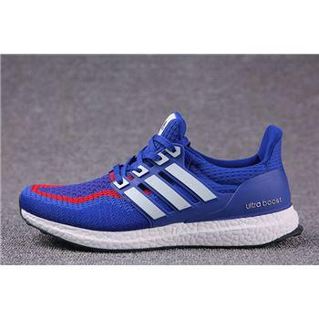 Good Price For Adidas Ultra Boosts Mens Running Shoes Blue Red White Usa For Sale