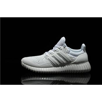 High Quality Adidas Ultra Boost Mens Running Shoes All White Usa Official Online