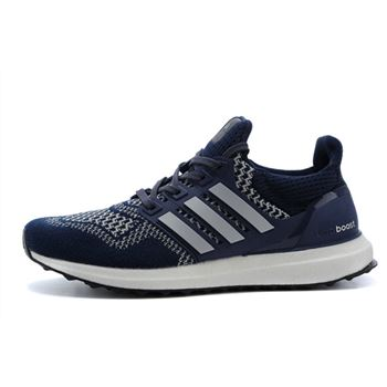 High Quality Adidas Ultra Boost Mens Running Shoes Dark Blue Silver For Cheap Usa
