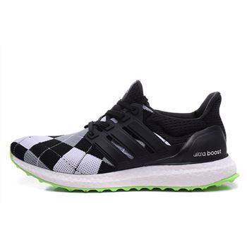 Hot Black Adidas Ultra Boost Mens Running Shoes Black White Low Price Sale
