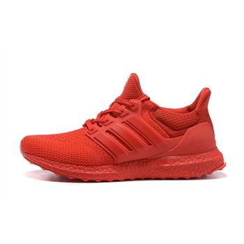 Hot Sale Adidas Ultra Boost Mens Running Shoes All Red Free Shipping