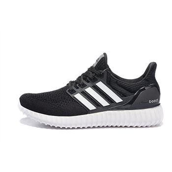 Hot Sale Adidas Ultra Boost Mens Running Shoes Black Silver Usa Clearance Sale
