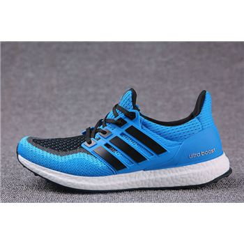Hot Sale Adidas Ultra Boosts Mens Running Shoes Black Blue Whole World Shipping