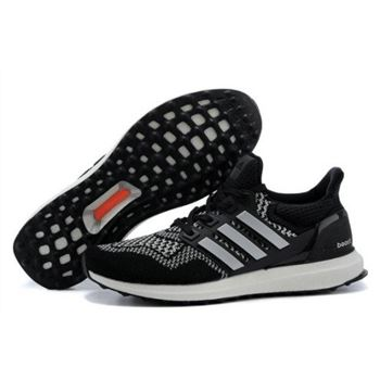 Mens Adidas Ultra Boost Black White Cheapest Online