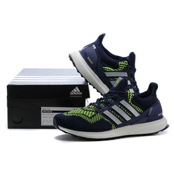Mens Adidas Ultra Boost Blue Green Whole World Shipping