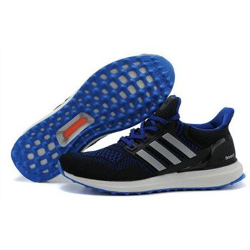Mens Adidas Ultra Boost Custom Black Blue Factory Wholesale