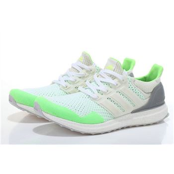 Mens Adidas Ultra Boost White Green Usa Clearance Sale