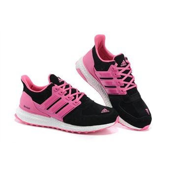 Adidas Ultra Boost Women 2015 Pink Black Low Price Sale