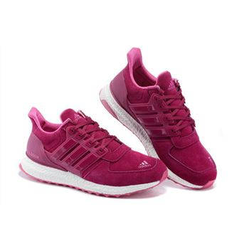 Adidas Ultra Boost Women 2015 Red White High Quality Usa
