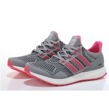 Adidas Ultra Boost Women Gray Pink For Cheap Usa