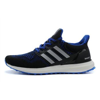 Best Adidas Ultra Boost Mens Running Shoes Black Blue Low Price Sale