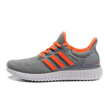 Best Adidas Ultra Boost Mens Running Shoes Gray Orange Whole World Shipping