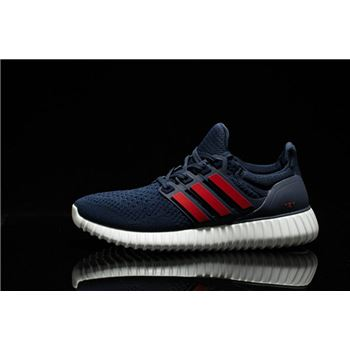 Best Of Adidas Ultra Boost Mens Running Shoes Blue Red Great Deals