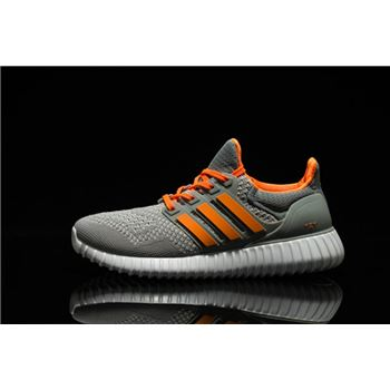 Cheapest Adidas Ultra Boost Mens Running Shoes Gray Orange Low Price Sale