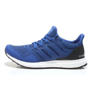 Designer Adidas Ultra Boost Mens Running Shoes Blue Black Fast Shipping
