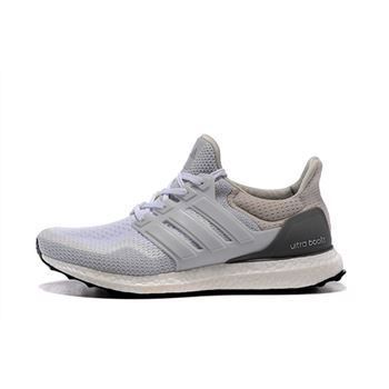 Designer Adidas Ultra Boosts Mens Running Shoes White Gray Big Sale Usa