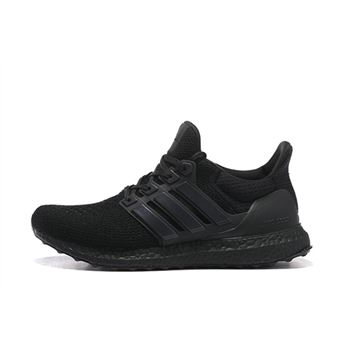 Discount Adidas Ultra Boost Mens Running Shoes All Black Limited Online