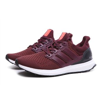 Discount Adidas Ultra Boost Mens Running Shoes Wine Red Black Usa Clearance Sale