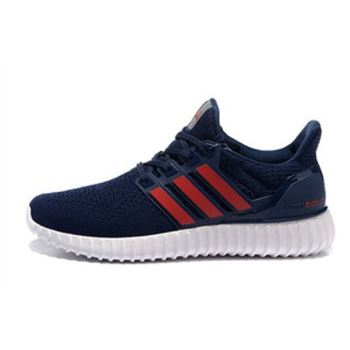 Free Shipping Adidas Ultra Boost Mens Running Shoes Dark Blue Red Great Deals