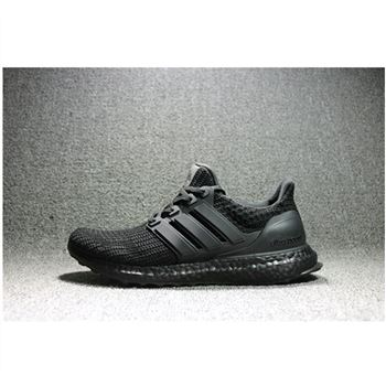 Adidas Ultra Boost Uncaged Laceless All Black Shoes