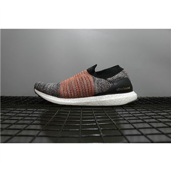 Adidas Ultra Boost Uncaged Laceless Grey Orange Black Shoes